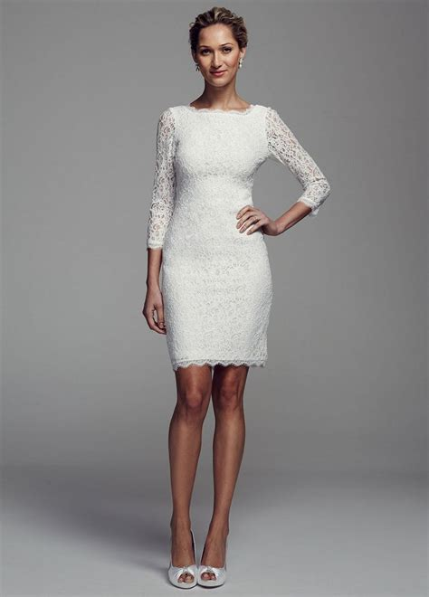davids bridal short long sleeve lace wedding dress ebay