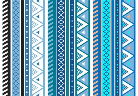 aztec pattern name free blue aztec geometric seamless vector pattern 139282