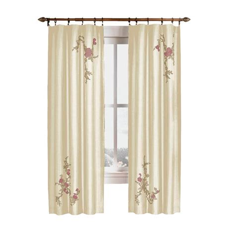 faux silk ivory curtains curtainworks semi opaque ivory asia faux silk rod pocket