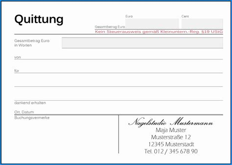 Word Vorlage Quittungsblock Vorlage Quittung Business Template