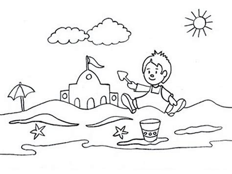 beach coloring pages preschool summer coloring pages for preschool az coloring pages