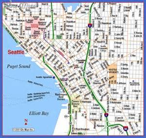 Seattle Attractions Map by Seattle Map Tourist Attractions Map Travel Holiday