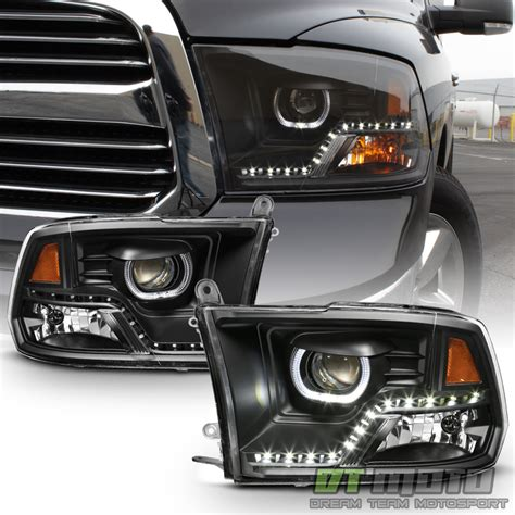 2004 dodge ram 1500 lights black 2009 2017 dodge ram 1500 2500 3500 drl led projector
