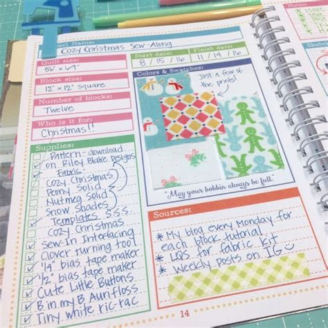 Quilt Planner Free by Bee In Bonnet Scrappy Project Planner Sew Along Week