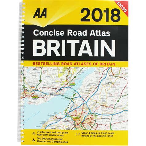 0008270333 comprehensive road atlas ireland aa concise road atlas britain 2018 by aa paperback