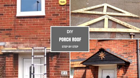 diy porch roof building a simple pitched roof step by