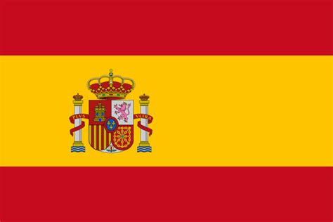 colors of spain flag from the flags of the world database