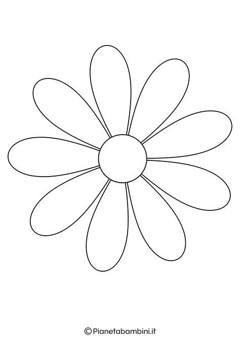 sagoma fiore 81 sagome di fiori da colorare e ritagliare per bambini