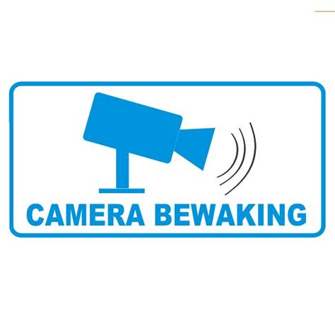 Sticker Camerabewaking Bestellen by Sticker Quot Camerabewaking Quot Binnenkant Raam Deur Gratis