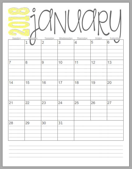 Printable Calendar With Holidays And Lines Musings Of An Average 2018 Vertical Calendars