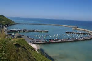 file port en bessin huppain bay high tide jpg wikimedia