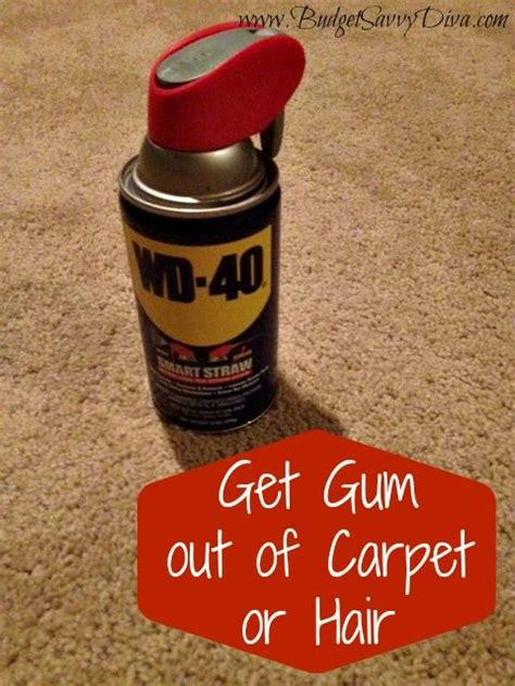 gum out of carpet for the home pinterest