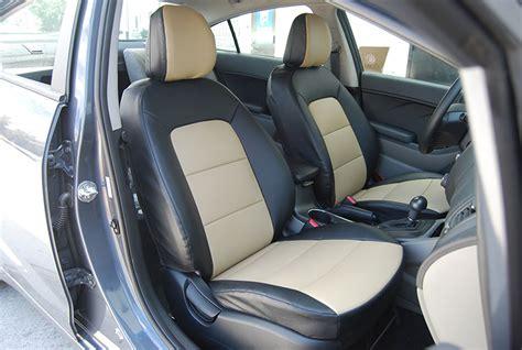 Seat Covers For Kia Forte Kia Forte 2013 2014 Leather Like Custom Fit Seat Cover Ebay