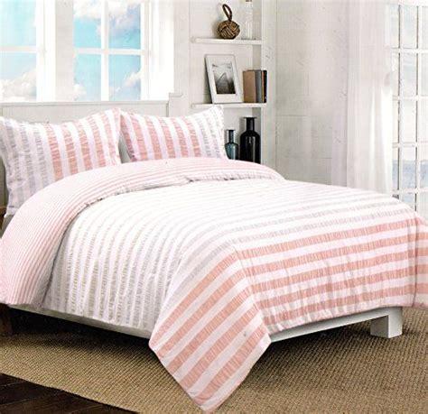 seersucker bedding nicole miller home 3pc full queen seersucker duvet cover