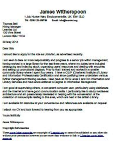 Cover Letter Exles Librarian Librarian Cover Letter Exle Learnist Org