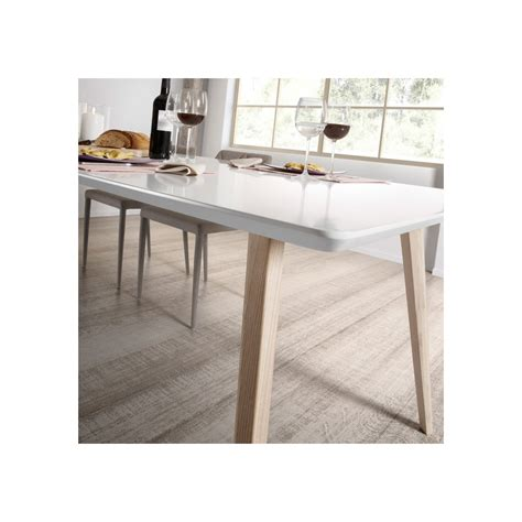 Table Blanche Extensible by Table Design Scandinave Extensible Bois Laqu 233 Blanc Joshua