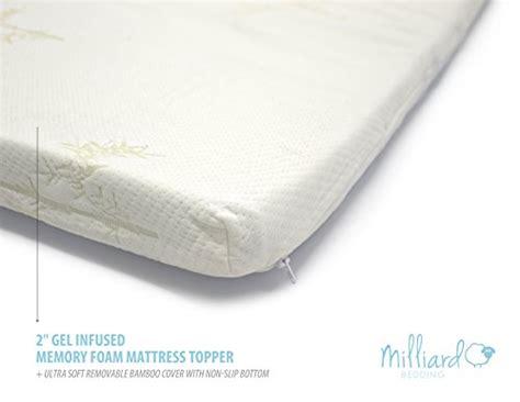 milliard 2 gel infused memory foam mattress topper