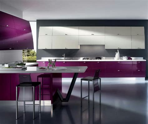 interior design trends  purple kitchen