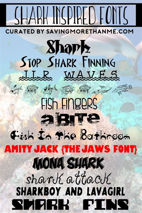 shark party font 12 shark inspired fonts i survived shark week printable