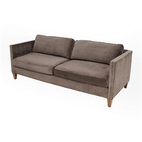 rowe mitchell sectional 83 off rowe rowe brown studded mitchell sofa sofas