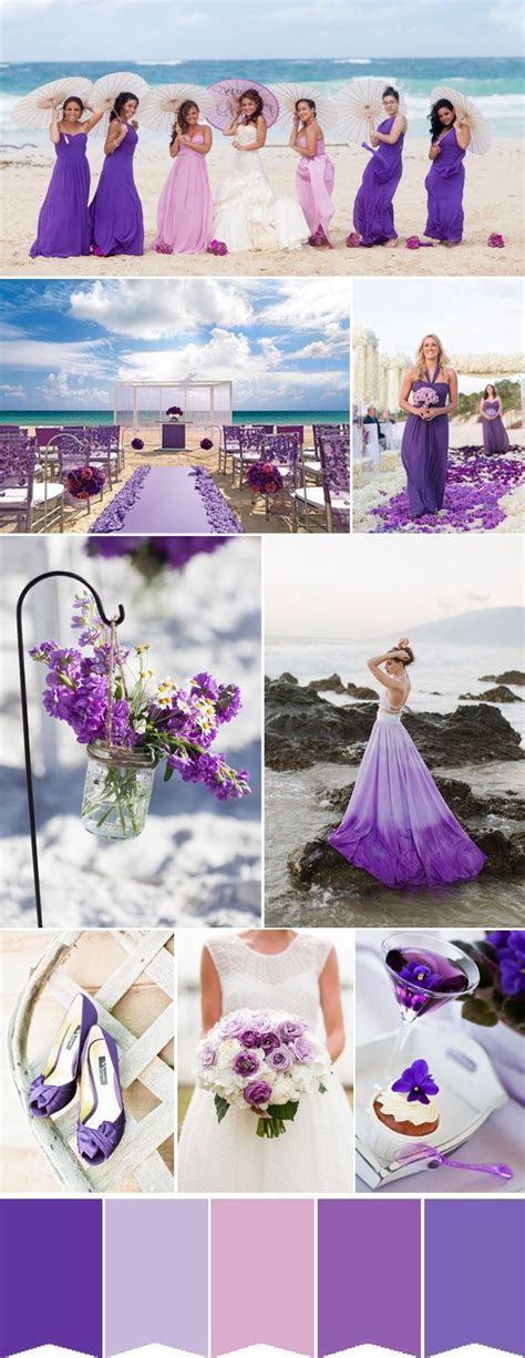 fabulous summer wedding colors with matched bridesmaid dresses color purple weddings