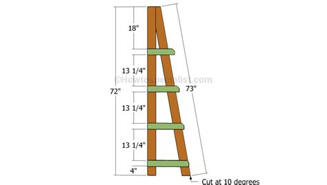 wood ladder bookshelf plans woodworking projects