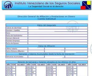 consultar mi estado de cuenta individual ivss ivss como consultar cuenta individual en el ivss