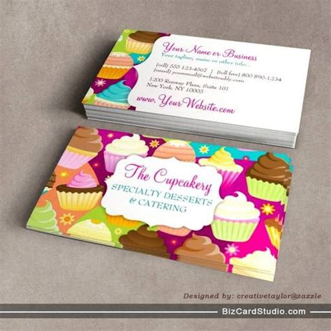 business card template for a bakery business card templates studio colorful cupcakes business