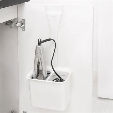 Cabinet Door Hair Dryer Holder by Oxo Cabinet Door Hair Iron Holder In Hair Dryer Holders