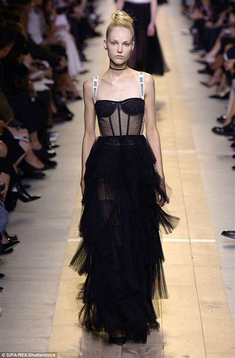 rent  clothes dior inspired sheer corset dress