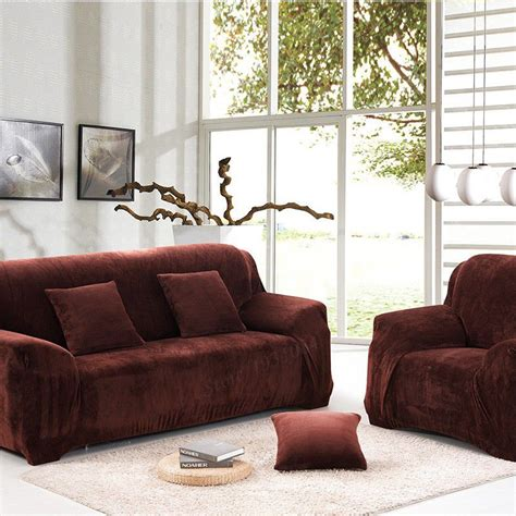universal couch slipcovers universal sofa cover thicken warm plush coffee slipcover