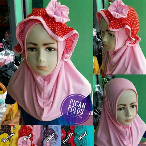 Jilbab Anak 17 jilbab anak pican polos sentral grosir jilbab kerudung