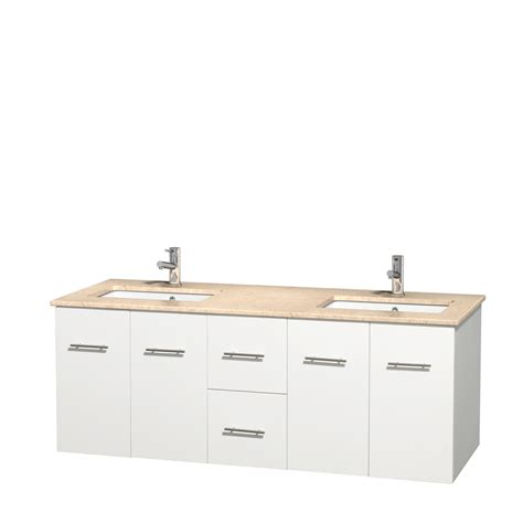double bathroom sink countertop wyndham collection wcvw00960dwhivunsmxx centra 60 inch