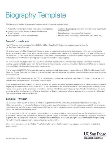 historical biography template band member contract template templates resume