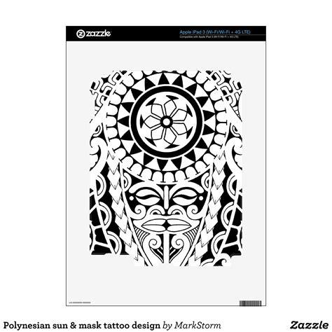 polynesian sun tattoo polynesian sun mask design 3 skin