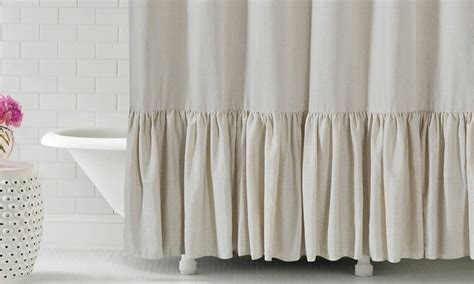 ruffle fabric shower curtain gabriella 72 quot x72 quot ruffle bottom fabric shower curtain
