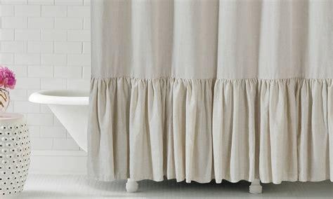 ruffle bottom curtains gabriella 72 quot x72 quot ruffle bottom fabric shower curtain