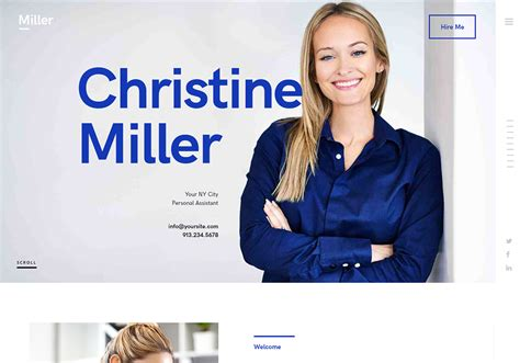 8 Best Virtual Assistant Website Templates 2019 Tech Links Daily Assistant Website Template