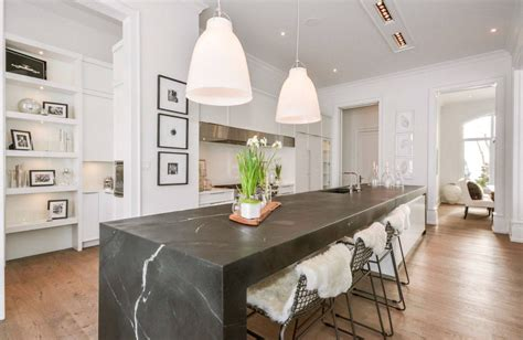 space for kitchen island 2018 keep up with the waterfall countertop trend looks that inspire