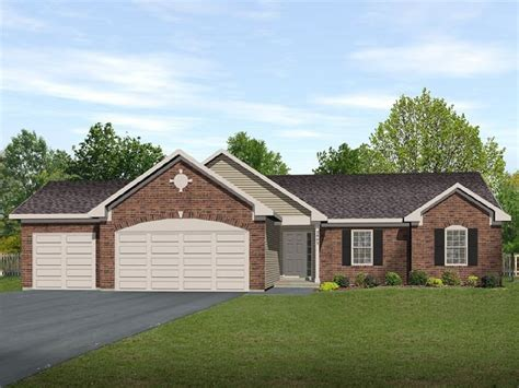 house plans with 3 car garage ranch living with three car garage 22006sl