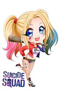 cute chibi harley quinn harley quinn chibi and anime on pinterest