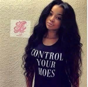 jet black hair sew ins with middle part hnczcyw