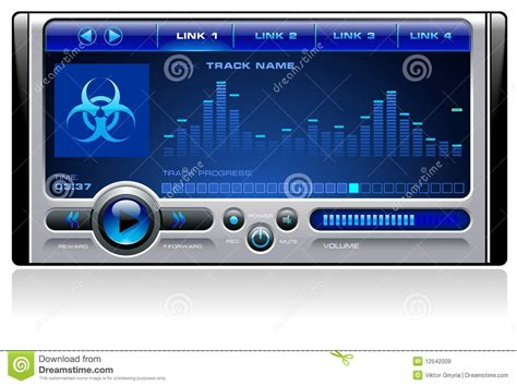 download mp3 from play music mp3 media music player vector royalty free stock images