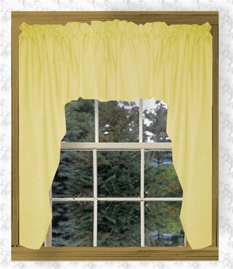yellow swag curtains solid light yellow swag window valance