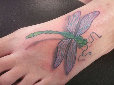 small dragonfly tattoo on foot dragonfly on foot