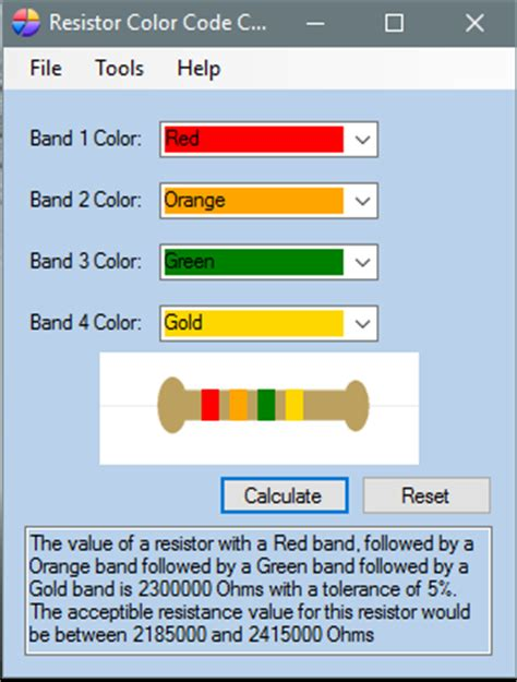 resistor color code calculator software 5 free software to decode resistor color codes