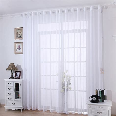 muslin drapes the living room balcony window curtain hangs thick super