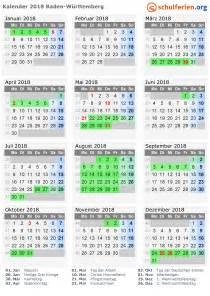 Kalender 2018 Schulferien Bw Kalender 2018 Ferien Baden W 252 Rttemberg Feiertage