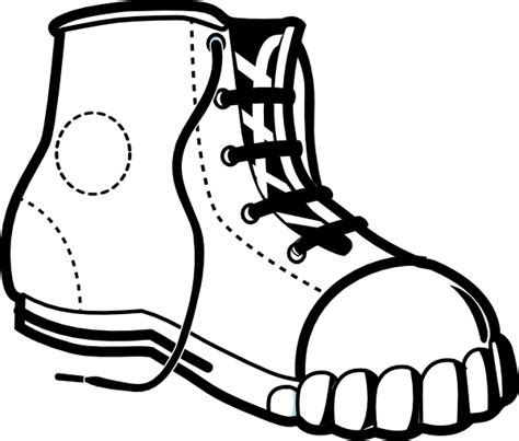 clip black and white sneakers clipart