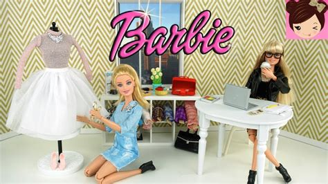 fashion design youtube barbie fashion designer stylist routine dress up and